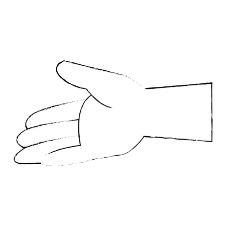 isolated opened hand icon vector illustration graphic design