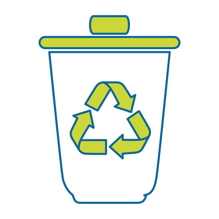 isolated recycle bin icon vector illustration graphic design 向量圖像