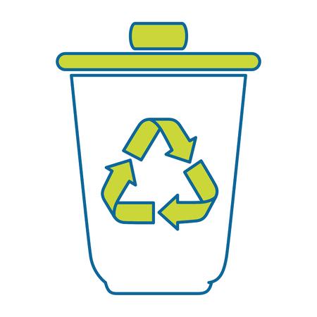 isolated recycle bin icon vector illustration graphic design Illusztráció