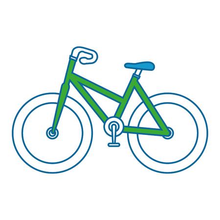 孤立したスポーツ自転車のアイコン ベクトル イラスト グラフィック デザイン