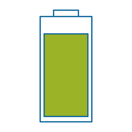 isolated charged battery icon vector illustration graphic design