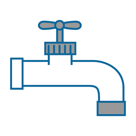 isolated water faucet icon vector illustration graphic design