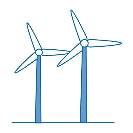 isolated wind energy icon vector illustration graphic design Ilustração