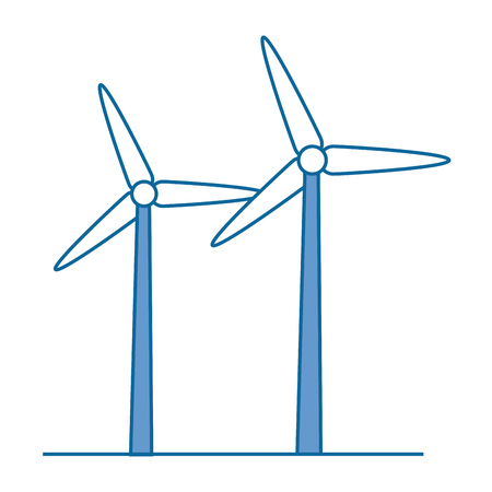 isolated wind energy icon vector illustration graphic design Illustration
