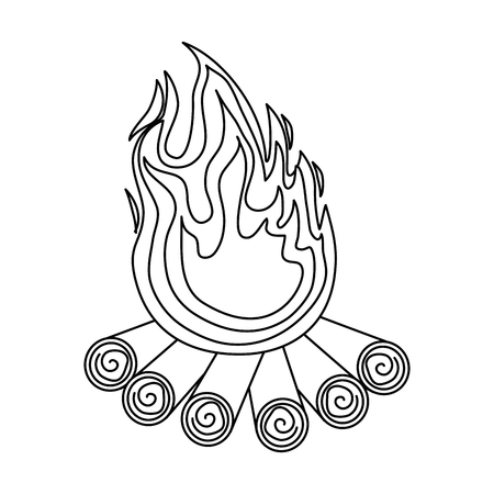 孤立した薪のアイコン ベクトル イラスト グラフィック デザイン 写真素材 - 82948498