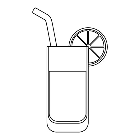 isolated lemonade glass icon vector illustration graphic design