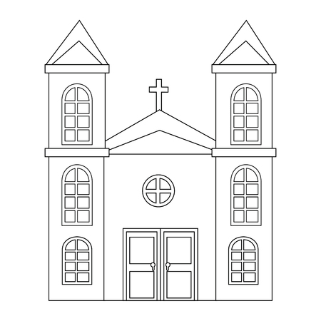Isolé grande icône de l & # 39 ; église illustration vectorielle conception graphique Banque d'images - 82948904
