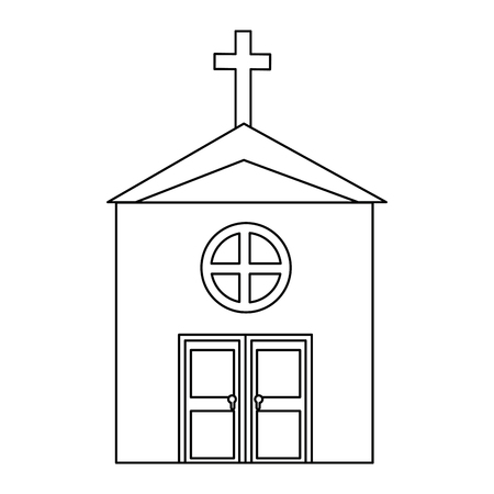 격리 된 큰 교회 아이콘 벡터 일러스트 그래픽 디자인