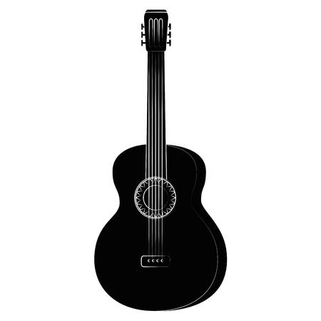 isolated guitar music instrument icon vector illustration graphic design Ilustração