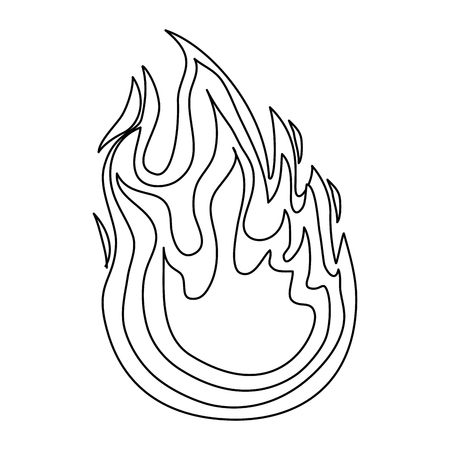 isolated big flame icon vector illustration graphic design