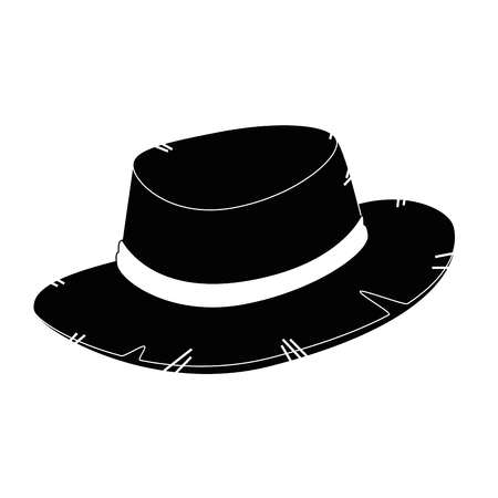 isolated farmer hat icon vector illustration graphic design Ilustrace