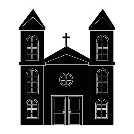 Isolé grande icône de l & # 39 ; église illustration vectorielle conception graphique Banque d'images - 82949833