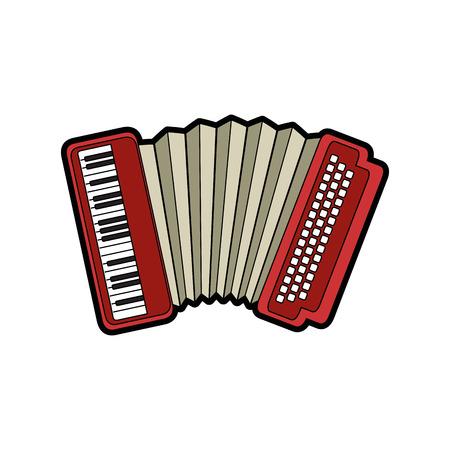 concertina: isolated accordion music instrument icon vector illustration graphic design Illustration