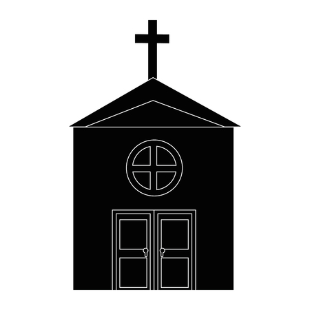isolated big church icon vector illustration graphic design Banco de Imagens - 82951183