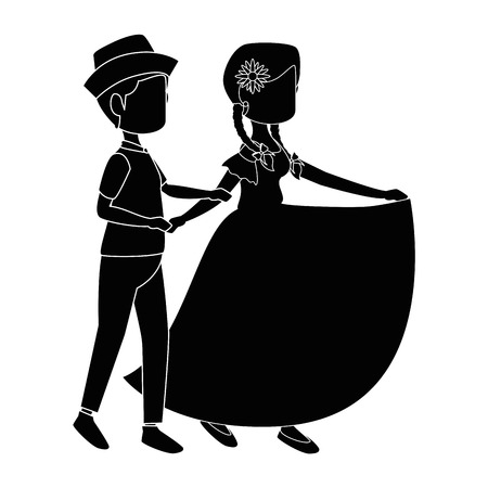 isolated peasants couple dancing icon vector illustration graphic design Vector Illustration