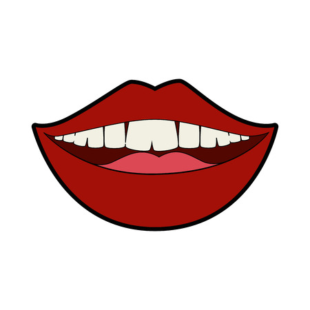 isolated mouth smiling icon vector illustration graphic design