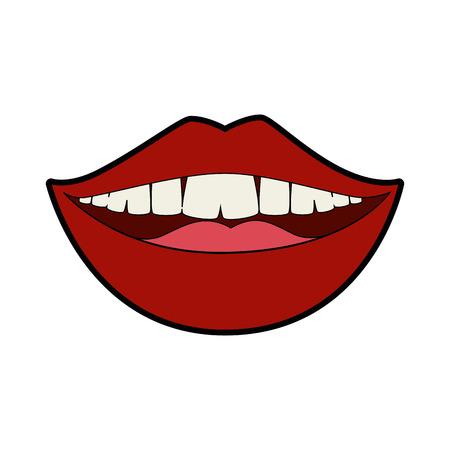 Isolierte Mund lächelnd Symbol Vektor-Illustration Grafik-Design Standard-Bild - 82951184