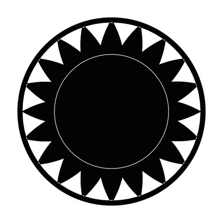 isolated big sun symbol icon vector illustration graphic design