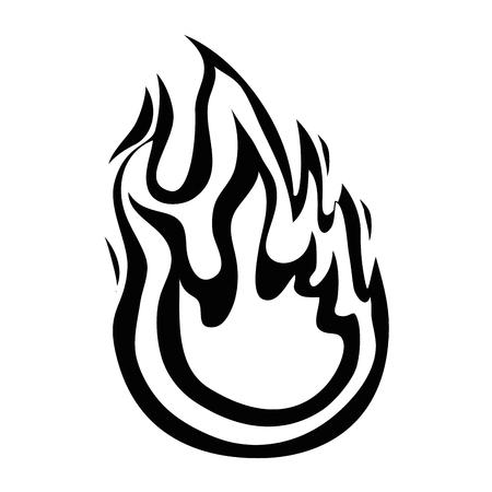 Isolé grande flamme icône vector illustration graphisme Banque d'images - 82952012