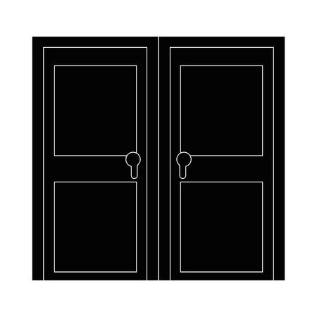 Isolata grande porta icona illustrazione vettoriale illustrazione grafica Archivio Fotografico - 82952029