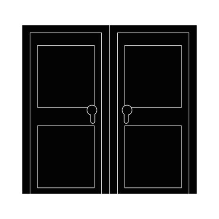 isolated big door icon vector illustration graphic design Ilustrace