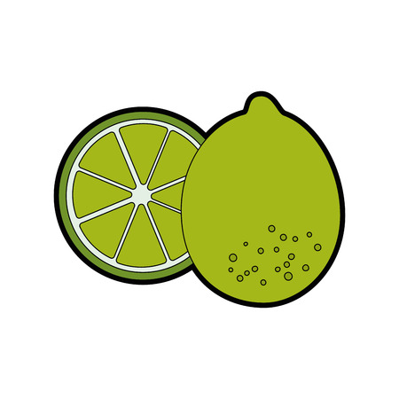 isolated two lemon icon vector illustration graphic design