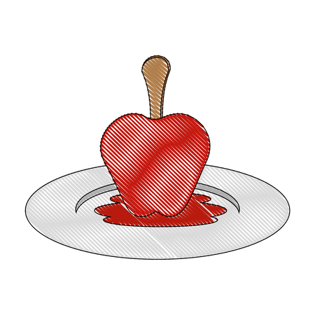 isolated caramel apple icon vector illustration graphic design Illusztráció