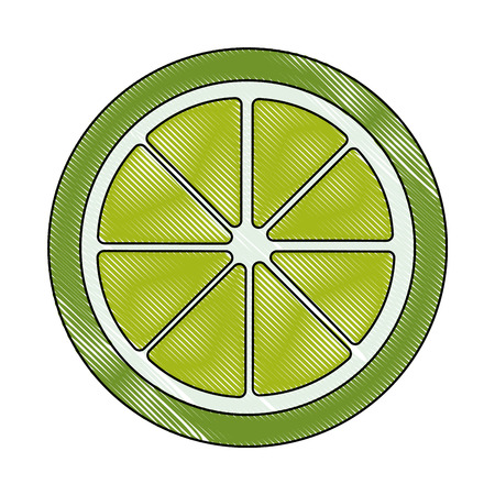 Half cut lemon icon