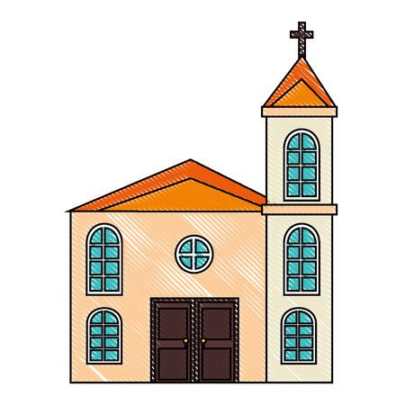 큰 교회 아이콘 일러스트