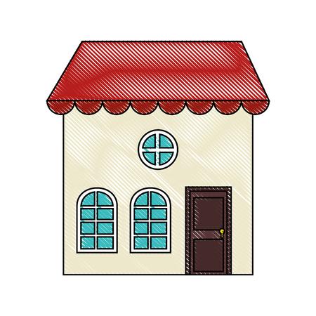 Groot huis Stock Illustratie