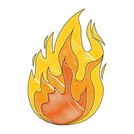 Isolé grande flamme icône vector illustration graphisme Banque d'images - 83020982