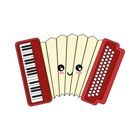 Accordeon muziekinstrument Stock Illustratie