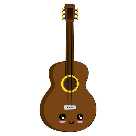 isolated guitar music instrument icon vector illustration graphic design 向量圖像