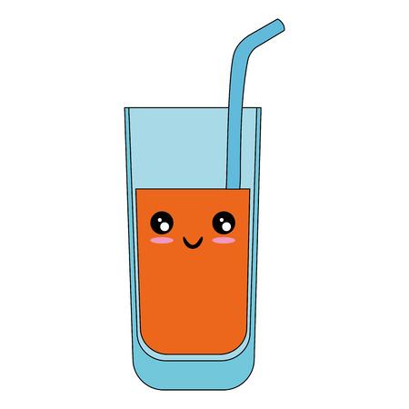 geïsoleerde sap glas pictogram vector illustratie grafisch ontwerp