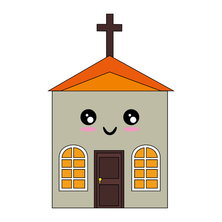 isolated big church icon vector illustration graphic design