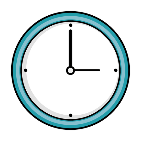 isolated wall clock icon vector illustration graphic design