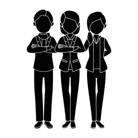 격리 된 파트너 그룹 아이콘 벡터 일러스트 그래픽 디자인