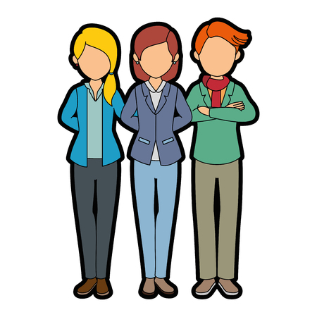 blondie: isolated partners group icon vector illustration graphic design