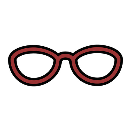 isolated elegant glasses icon vector illustration graphic design