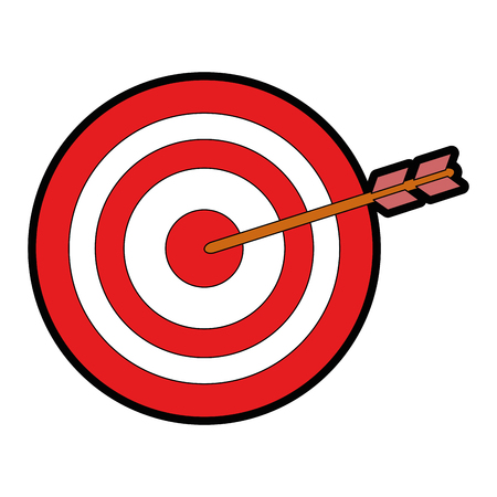 isolated target shooting icon vector illustration graphic design
