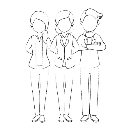 geïsoleerde partners groep icon vector illustratie grafisch ontwerp