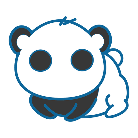 isolated cute panda bear icon vector illustration graphic design
