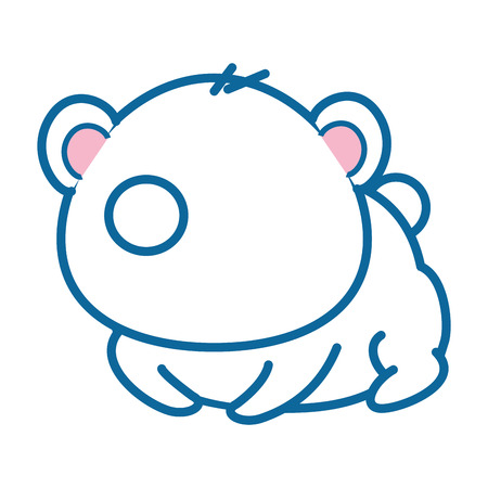 孤立したかわいいパンダのクマのアイコン ベクトル イラスト グラフィック デザイン