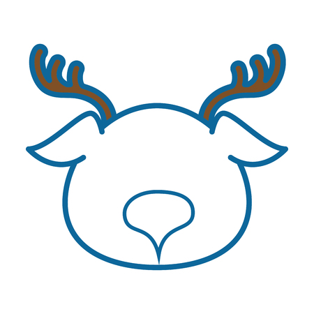 isolated cute deer face icon vector illustration graphic design