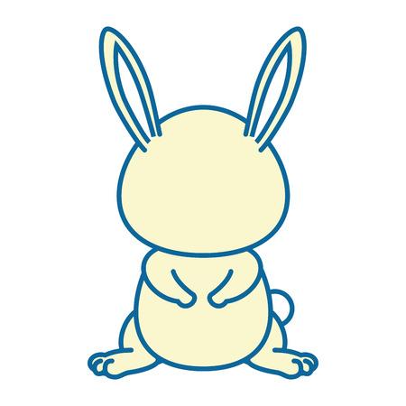 isolated cute standing rabbit icon vector illustration graphic design Illustration