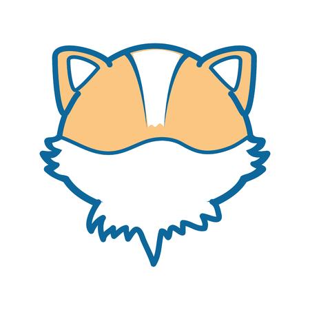 foxy: isolated cute fox face icon vector illustration graphic design