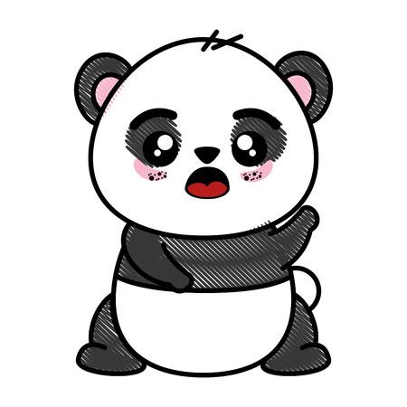 Isolierte niedliche Panda Bär Symbol Vektor-Illustration Grafik-Design Standard-Bild - 82951136