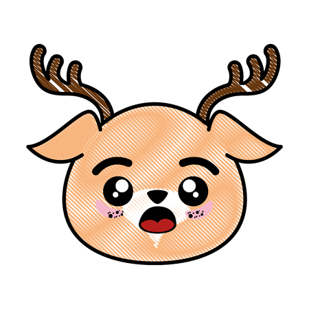 isolated cute deer face icon vector illustration graphic design 版權商用圖片 - 82951142