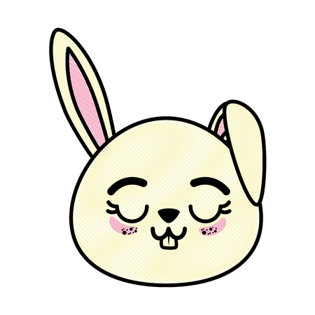isolated cute rabbit face icon vector illustration graphic design Illustration