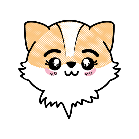 isolated cute fox face icon vector illustration graphic design
